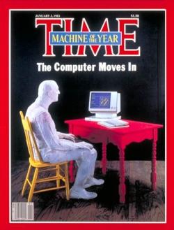 Capa da Time de 1982. O Computador foi considerado a personalidade do ano.
